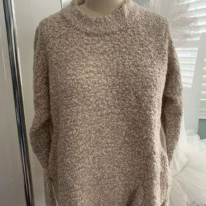 RAG & BONE Rue Boucle Wool Blend Pullover Beige L